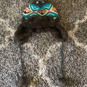 Furry multicolor Kirra ski hat ⛷💙